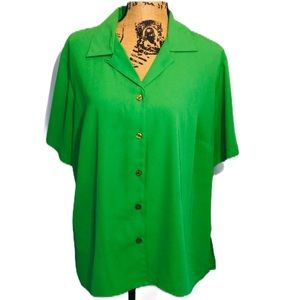 5/$25SALE Vintage Women's green blouse